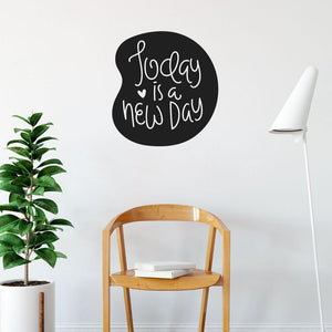 Today Is A New Day Inspirational Wall Sticker Quote