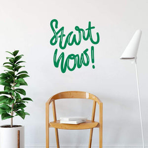 Start Now Positive Motivational Wall Sticker Quote