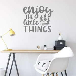 Enjoy The Little Things Positive Wall Art Sticker Quote