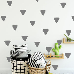 80 Rounded Irregular Triangle Wall Decals