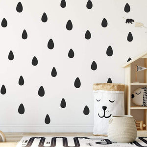 42 Hand Drawn Raindrop Wall Sticker Shapes