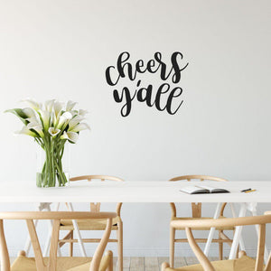 Cheers Y'all Funny Kitchen Wall Sticker Quote