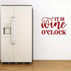 It's Wine O'Clock Kitchen Wall Sticker Quote