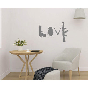 Love Banksy Wall Sticker Weapons