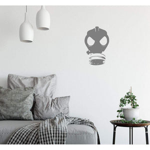 Banksy Wall Sticker Gas Mask