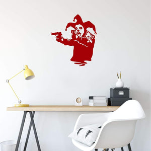 Banksy Joker With Guns Wall Sticker