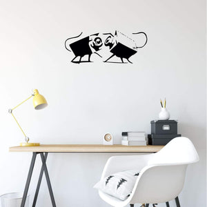 Banksy Wall Sticker Cameras