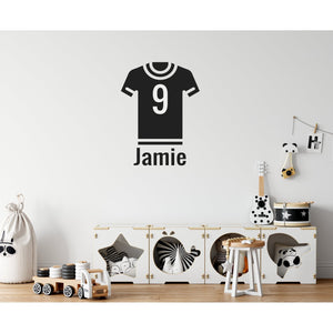 Children's Personalised Football Shirt Name Wall Sticker