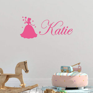 Custom Name Fairy & Butterflies Children's Wall Sticker