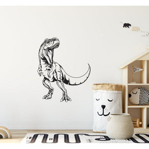 T-Rex Dinosaur Children's Wall Sticker Hand Drawn