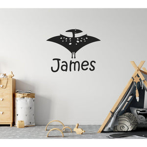 Personalised Flying Dinosaur Kids Wall Sticker