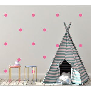 100 Polka Dot Coloured Wall Stickers