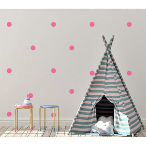 100 Polka Dot Wall Stickers