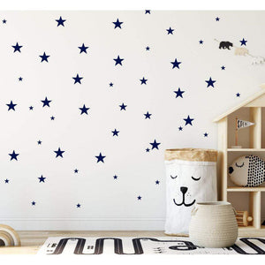 120 Colour Stars Wall Stickers