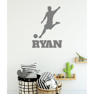 Kids Customised Name Football Wall Sticker