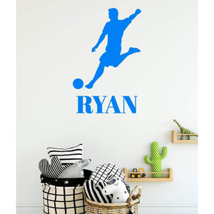 Boys Football Wall Decal Sticker Personalised