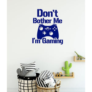 Boys Gamer Wall Sticker Don't Bother Me I'm Gaming