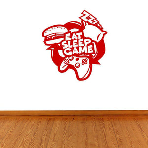 Eat Sleep Game Gaming Wall Sticker Decal