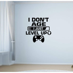 I Don't Age I Just Level Up Controller Gaming Wall Sticker