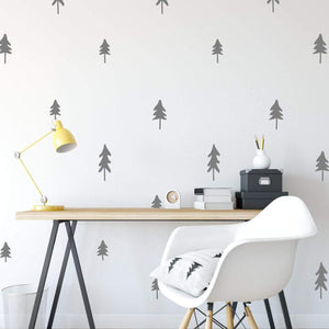 30 Mini Tree Pattern Wall Stickers Pack