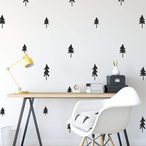30 Pine Tree Pattern Wall Sticker Pack