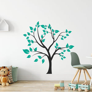 Large Tree Wall Sticker With Leaves