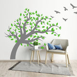Tree Wall Sticker With Flyign Birds