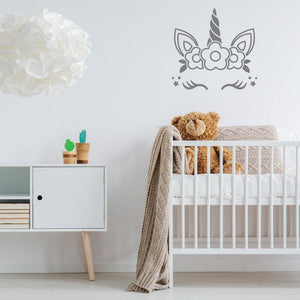 Sleeping Unicorn Wall Sticker Art