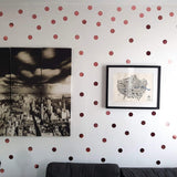 100 Rose Gold Polka Dot Wall Stickers