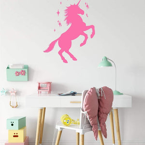 Unicorn With Stars Wall Sticker