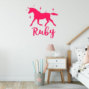 Personalised Unicorn Wall Art Sticker