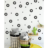 Heart Irregular Circles & Polka Dot Wall Stickers
