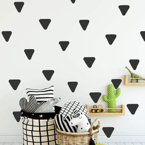 80 Rounded Irregular Triangle Wall Stickers