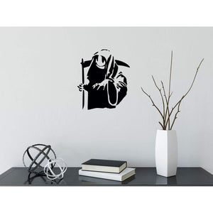 Banksy Grim Reaper Smiley Face Wall Sticker