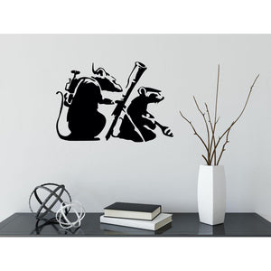Banksy Rats With Rocket Launchers Wall Sticker