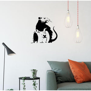 Banksy Toxic Rat Wall Sticker