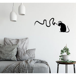 Rat With Paint Banksy Wall Sticker