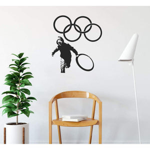 Banksy Olympic Rings Wall Sticker