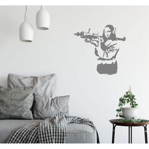 Banksy Wall Sticker Mona Lisa With Rocket Launcher