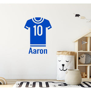 Personalised Name Football Shirt Wall Sticker