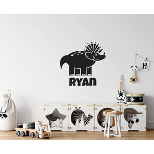 Childrens Personalised Name Dinosaur Wall Sticker