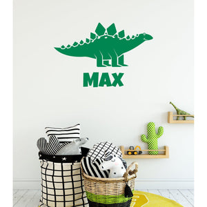 Custom Childrens Name Dinoaur Wall Sticker
