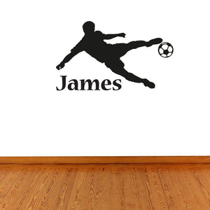 Boys Personalised Football Name Wall Sticker