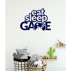 Eat Sleep Game Gaming Wall Sticker