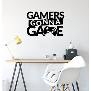 Gamers Gonna Game Gaming Wall Decal Sticker