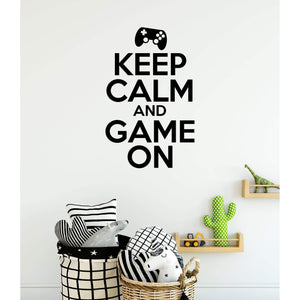 Keep Calm And Game On Gamers Wall Sticker