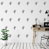42 Mini Cactus Pattern Wall Stickers