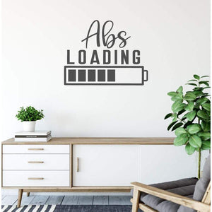 Abs Loading Battery Funny Gym Wall Sticker Quote