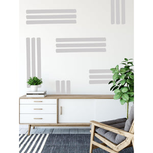 Line Pattern Wall Stickers