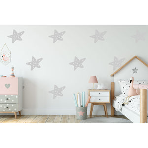12 Hand Drawn Spotty Star Wall Stickers